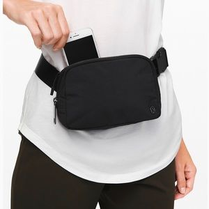 Lululemon black everywhere belt bag